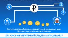 Ипотека Газпромбанка для держателей зарплатных карт
