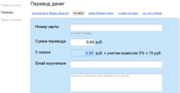 Переводы с Яндекс.Денег на карту Альфа-Банка