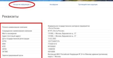 Реквизиты Почта Банка: ИНН, БИК, юридический адрес