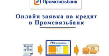 Онлайн-заявка на кредит наличными в Промсвязьбанке