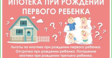 Списание ипотеки при рождении ребенка в 2019 году: помощь государства